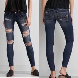 American Eagle 14 Long Super Low Jeggings Jeans